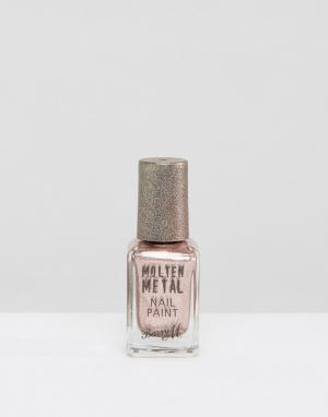 Barry M Лак для ногтей цвета расплавленного металлика. Цвет: розовый