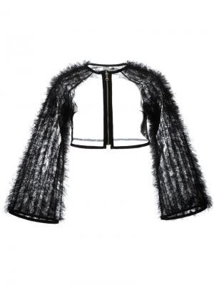Укороченная куртка из тюля Comme Des Garçons Noir Kei Ninomiya. Цвет: чёрный