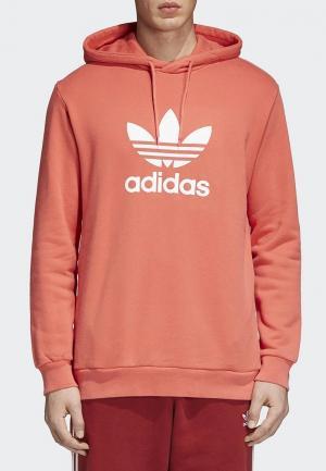 Худи adidas Originals. Цвет: коралловый