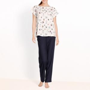Пижама с цветочным принтом La Redoute Collections. Цвет: цветочный рисунок