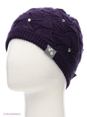 Вязаная шапка HUPPA. Цвет: фиолетовый