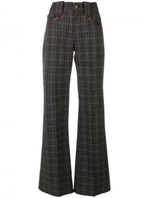 Расклешенные брюки в клетку Marc Jacobs. Цвет: серый