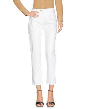 Повседневные брюки DIRTYPAGE. Цвет: белый