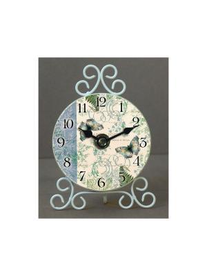 Часы настольные Папоротник Magic Home. Цвет: белый