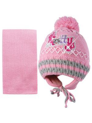 Шапка и шарф Kolad. Цвет: розовый