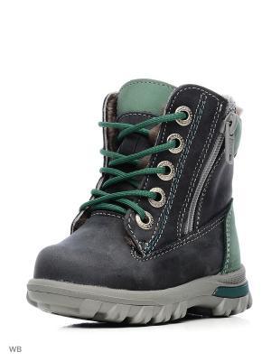 Ботинки Котофей. Цвет: серо-зеленый