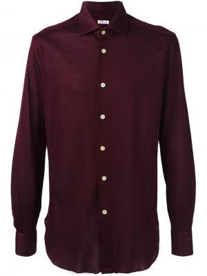 Классическая рубашка Kiton. Цвет: красный