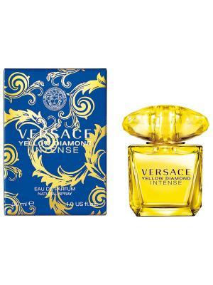 Туалетная вода Yellow Diamond Intense, 30 мл Versace. Цвет: желтый, синий
