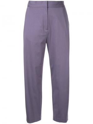 Строгие брюки H Beauty&Youth. Цвет: розовый и фиолетовый