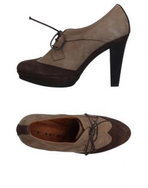 Обувь на шнурках TIFFI. Цвет: хаки
