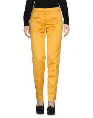 Повседневные брюки ROCHAS. Цвет: охра