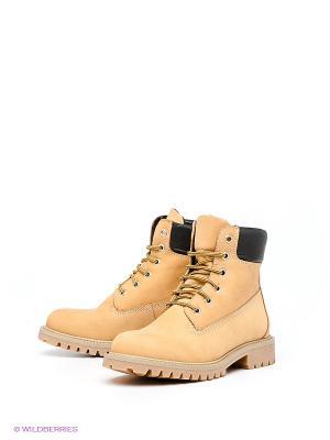 Ботинки PIRANHA. Цвет: желтый