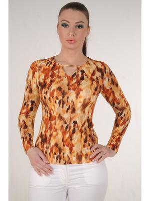 Блузка MONO collection. Цвет: коричневый, бронзовый, горчичный, оранжевый, светло-коричневый, светло-оранжевый