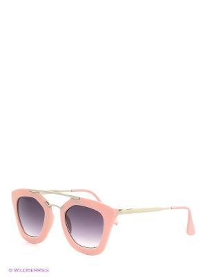 Солнцезащитные очки Oodji. Цвет: черный, бледно-розовый