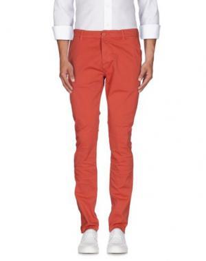 Повседневные брюки QU4TTRO. Цвет: кирпично-красный