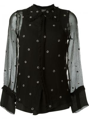 Рубашка с вышивкой Jupe By Jackie. Цвет: чёрный