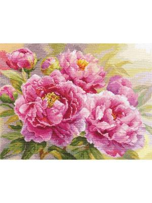 Набор для вышивания Пионы  40х30 см Алиса. Цвет: розовый, желтый, зеленый