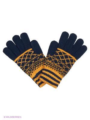 Перчатки United Colors of Benetton. Цвет: темно-синий, оранжевый
