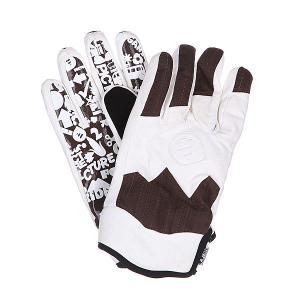 Перчатки сноубордические  Sheeper Brown Picture Organic. Цвет: коричневый,белый