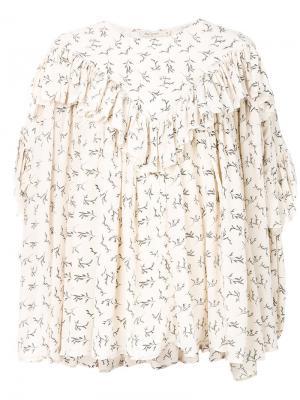 Блузка Flamande Mes Demoiselles. Цвет: телесный