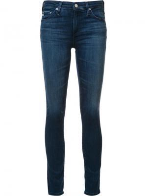 Джинсы кроя супер-скинни Ag Jeans. Цвет: синий
