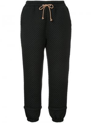Стеганые брюки Podin Nehera. Цвет: чёрный