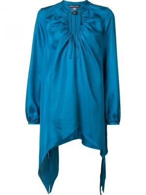 Шелковая блузка Charge Thomas Wylde. Цвет: синий