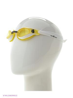 Стартовые очки X-LOOK Mad Wave. Цвет: желтый, белый