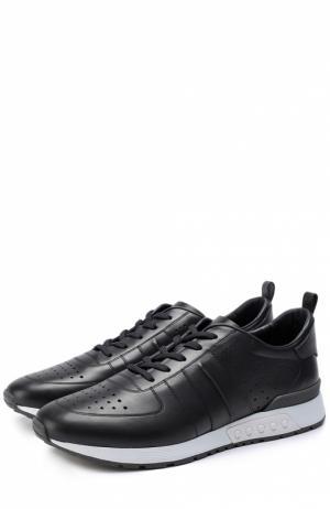 Кожаные кроссовки с перфорацией Tod's. Цвет: темно-синий