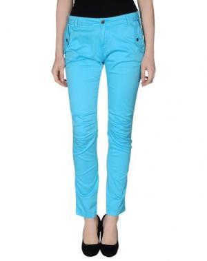 Повседневные брюки STUDS WAR. Цвет: лазурный