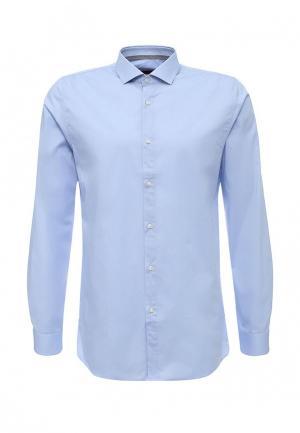Рубашка Hugo Boss. Цвет: голубой
