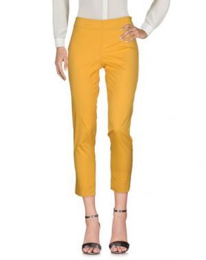 Повседневные брюки ROSSO35. Цвет: охра