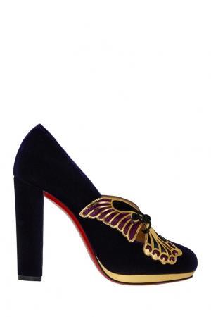 Бархатные туфли Borboleta 120 Christian Louboutin. Цвет: фиолетовый