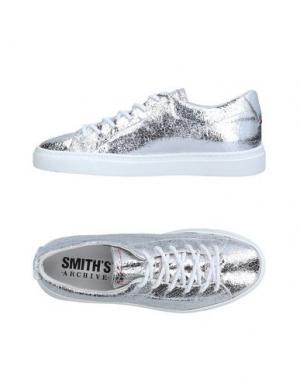 Низкие кеды и кроссовки SMITH'S AMERICAN. Цвет: серебристый