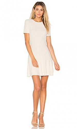 Платье из тисненной жаккардовой ткани twenty. Цвет: ivory