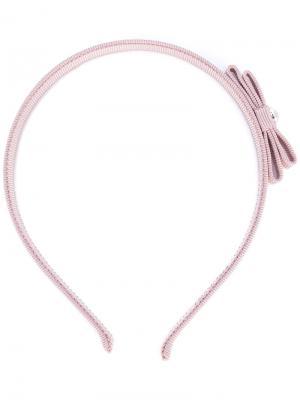 Ободок для волос с бантом Salvatore Ferragamo. Цвет: розовый и фиолетовый