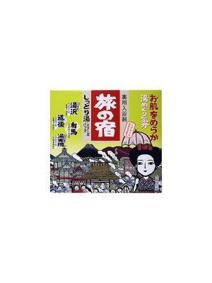 Tabi no Yado Набор солей для принятия ванны Горячий источник (зеленая) 13 шт. Kracie. Цвет: прозрачный