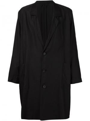 Объемное однобортное пальто Second/Layer. Цвет: чёрный