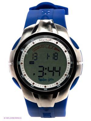 Часы Sector. Цвет: синий, серебристый