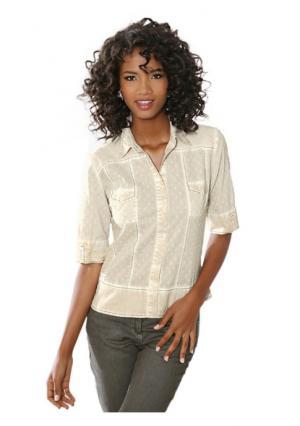 Блузка Linea Tesini. Цвет: песочный