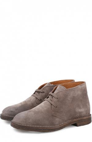 Замшевые ботинки на шнуровке Uit. Цвет: серый