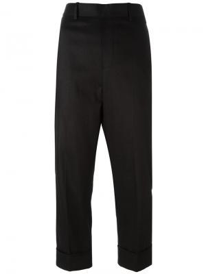 Укороченные брюки строгого кроя Neil Barrett. Цвет: чёрный