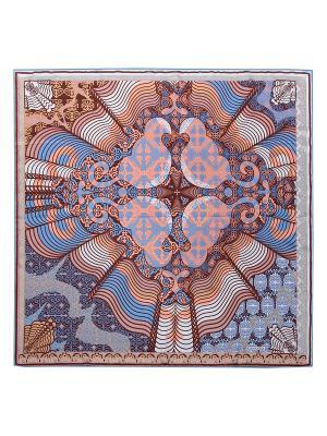 Платок Eleganzza. Цвет: серо-коричневый, голубой, коричневый, светло-коралловый