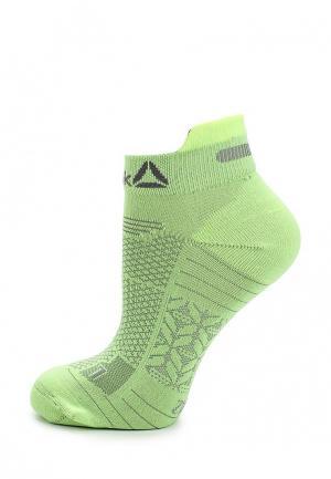 Носки Reebok. Цвет: зеленый