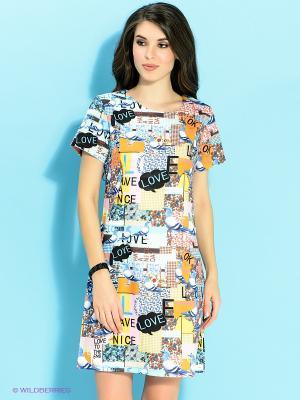 Платье Ada Gatti. Цвет: желтый, голубой