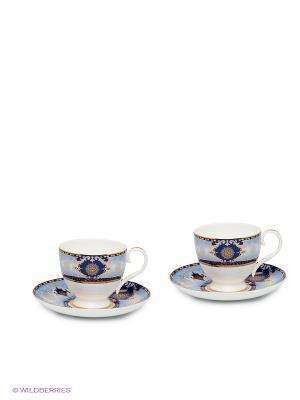 Чайный набор Флоренция Pavone. Цвет: синий, белый