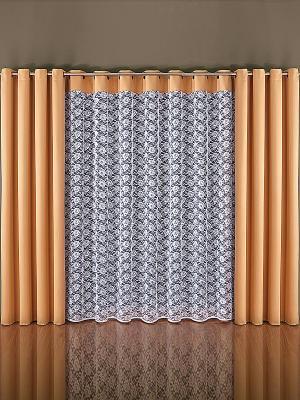 Комплект штор Wisan. Цвет: светло-коричневый, белый