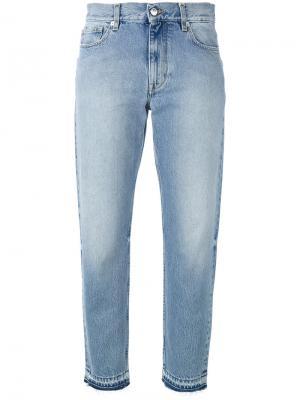 Укороченные джинсы Harmony Paris. Цвет: синий
