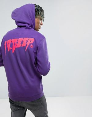 10 Deep Худи с логотипом на спине. Цвет: фиолетовый