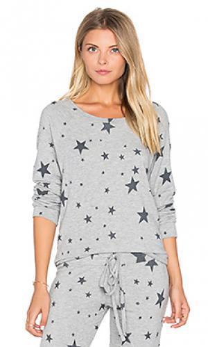 Классический пуловер percy Michael Lauren. Цвет: серый